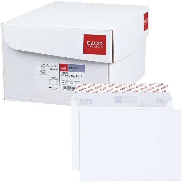 Briefumschläge ELCO Proclima, C5 100 g/m² ohne Fenster, haftklebend - 500 Stück