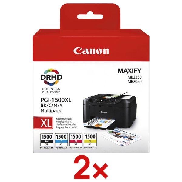 Canon 2x Tintenpatronen-Set »PGI-1500XL BK/C/M/Y«