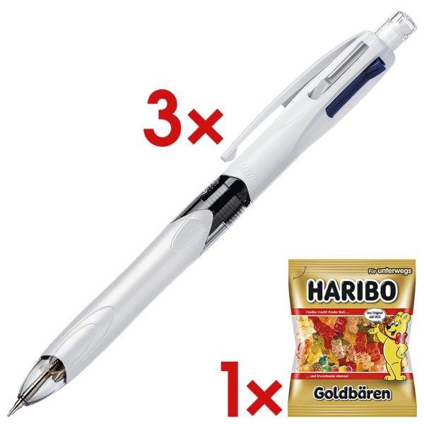 3x Multifunktionsstift BIC 4 Colours 3+1, inkl. Fruchtgummi »Goldbären«
