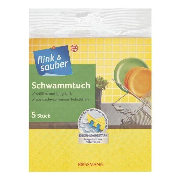 flink & sauber 5er-Pack Schwammtücher