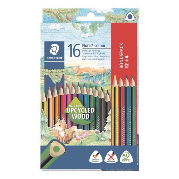 Staedtler 12+4 Bonus-Pack Buntstifte »Noris Colour« dreikant