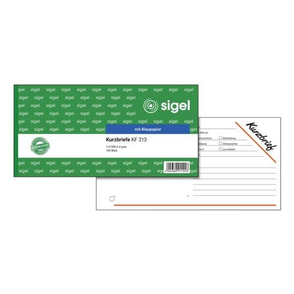 Sigel Formularbuch »Kurzbrief« KF213