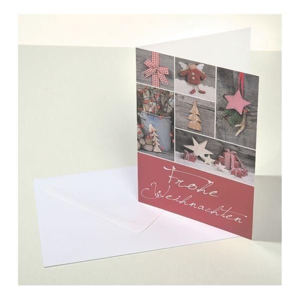 Weihnachtskarte LUMA KARTENEDITION, Sonderformat, 6 Stück