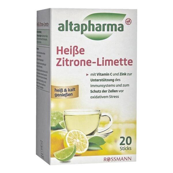 altapharma Heiße Zitrone-Limette mit Vitamin C und Zink