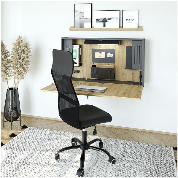 HAMMERBACHER Wandschreibtisch »Home Office« 120 cm, klappbar ohne Gestell
