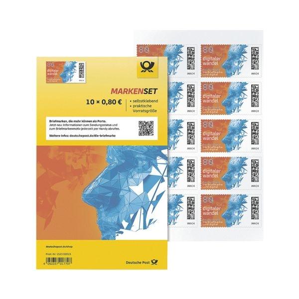 Deutsche Post Markenset Digitaler Wandel, 10x Briefmarken zu 0,80 € selbstklebend