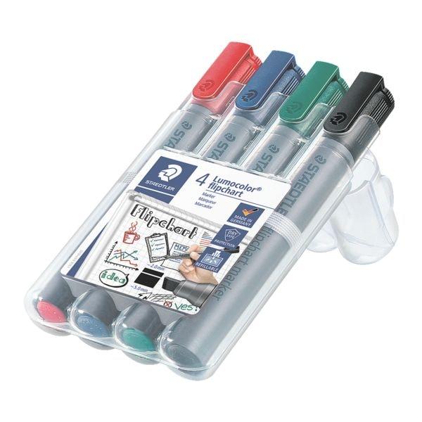 Staedtler 4er-Pack Flipchart Marker »Lumocolor 356 B«