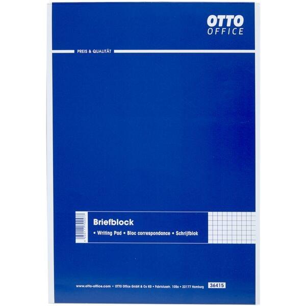 OTTO Office Briefblock, A4, kariert, 50 Blatt