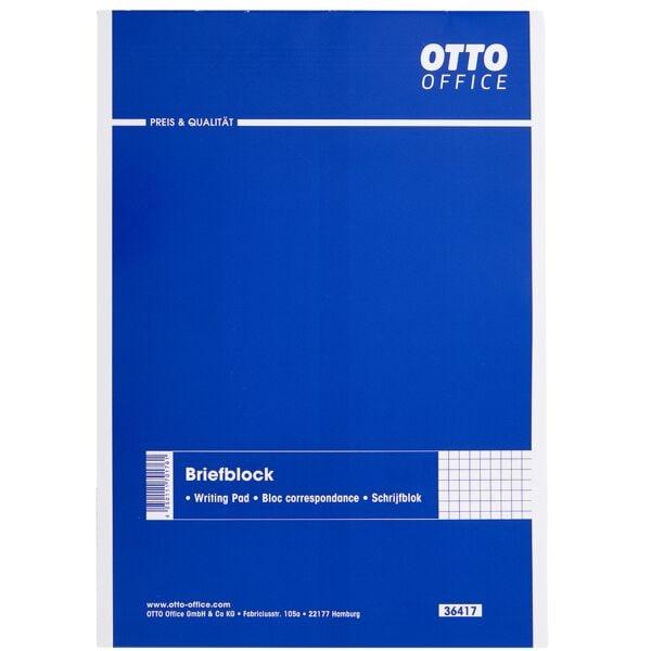 OTTO Office Briefblock, A5, kariert, 50 Blatt