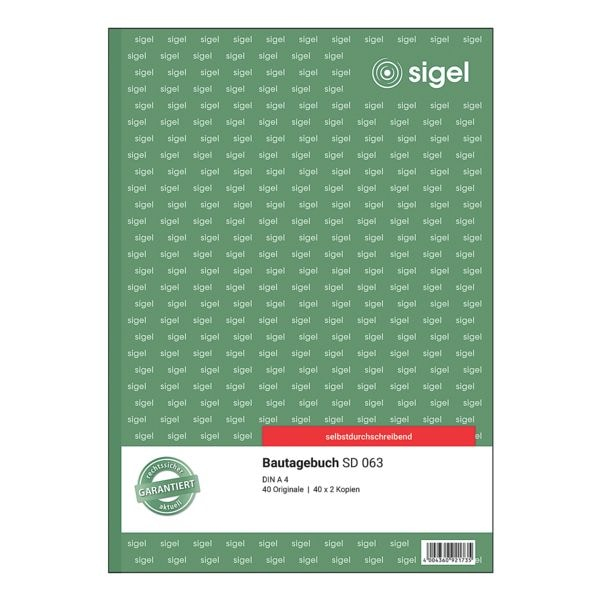 Sigel Bautagebuch »SD063«
