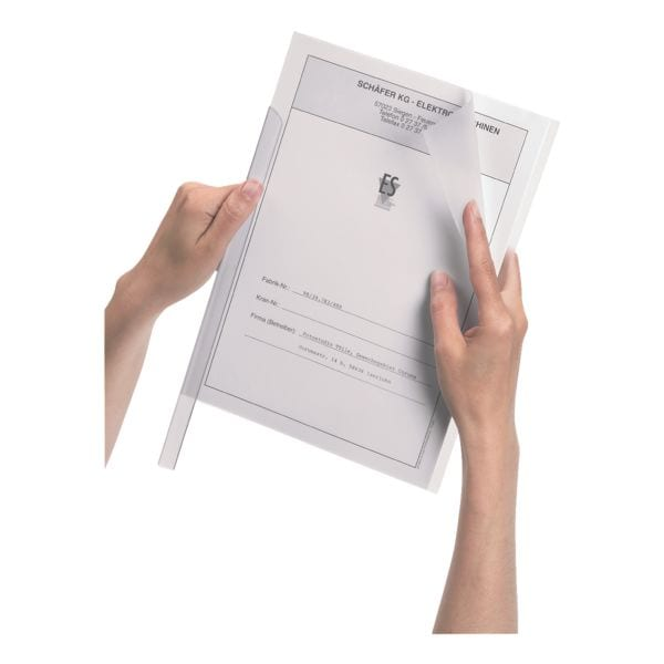 Durable 10 Klemmhüllen A4 bis 100 Blatt