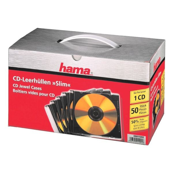 Hama CD/DVD/Blu-ray-Leerhüllen »Slimline«
