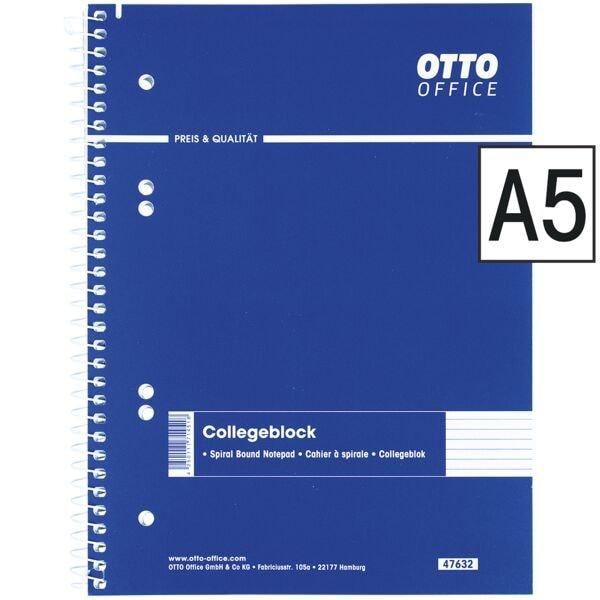 OTTO Office Collegeblock A5 liniert, 80 Blatt