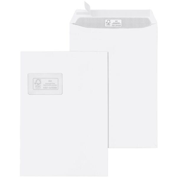 Briefumschläge Mailmedia, C4 100 g/m² mit Fenster, haftklebend - 250 Stück