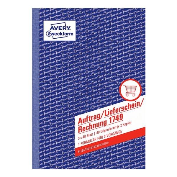 Avery Zweckform Formularbuch »1749« für Auftrag/Lieferschein/Rechnung