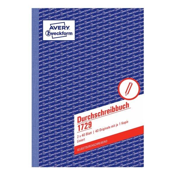 Avery Zweckform Formularbuch 1729 »Durchschreibebuch«
