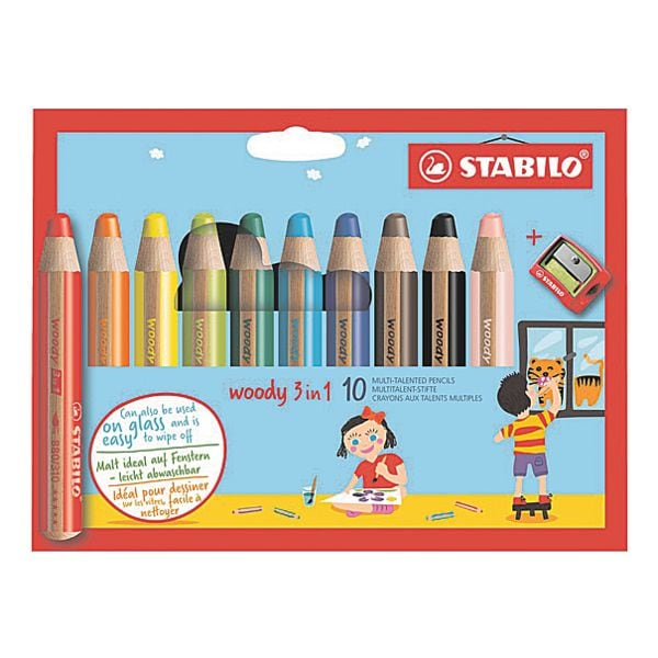 Stabilo 10er-Pack Buntstift »Woody 3 in 1«