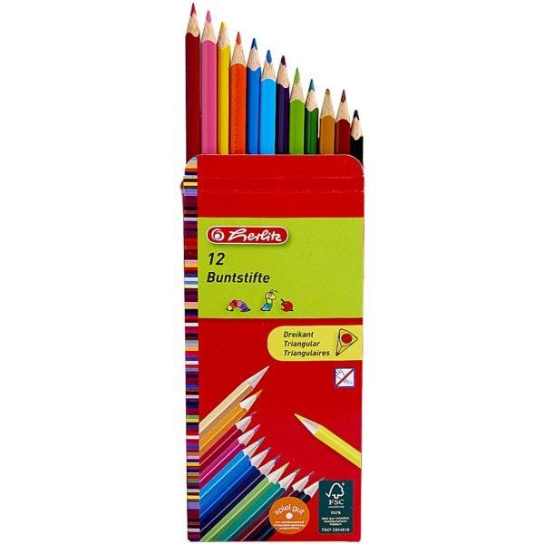 Herlitz 12er-Pack Holz-Buntstifte