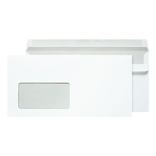 Briefumschläge OTTO Office, DL 80 g/m² mit Fenster - 100 Stück