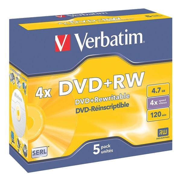 Verbatim DVD-Rohlinge »DVD+RW« 5er-Pack