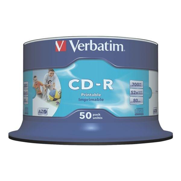 Verbatim CD-Rohlinge »Printable CD-R«