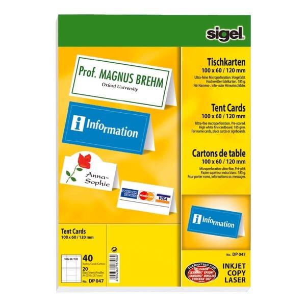 Sigel Tischkarten DP047