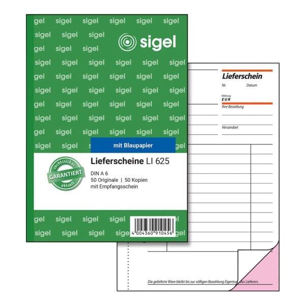 Sigel Formularbuch »Lieferschein mit Empfangsschein« LI625