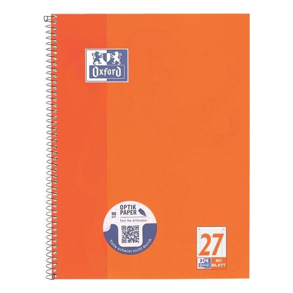 Oxford Collegeblock Schule Lineatur 27 A4+ liniert, 80 Blatt