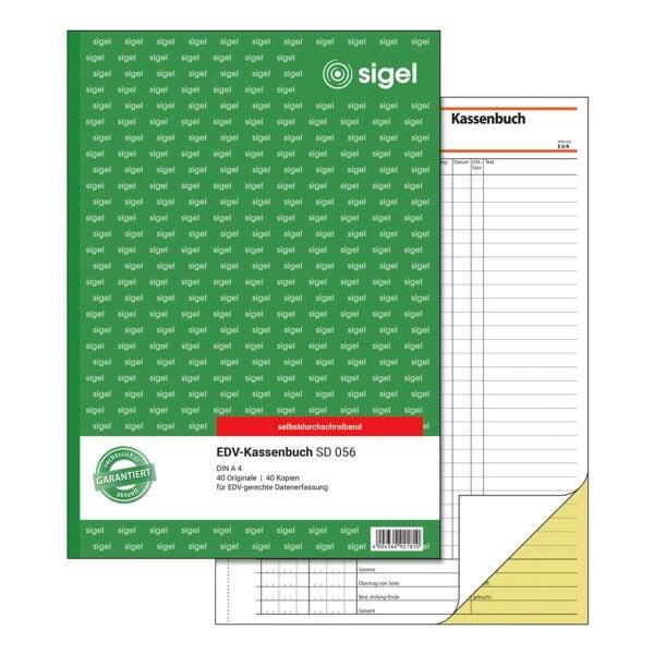 Sigel Formularbuch »Kassenbuch EDV« SD056