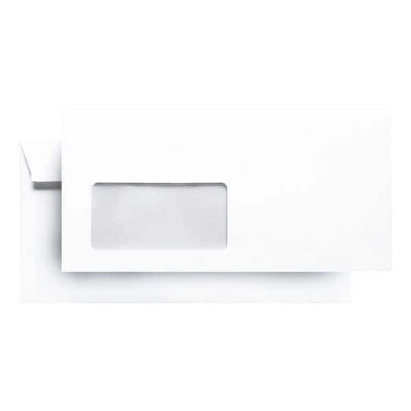 Briefumschläge Steinmetz Miniboxen, DIN lang 80 g/m² mit Fenster - 700 Stück