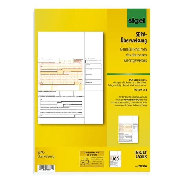 Sigel PC-SEPA-Überweisung ZV570