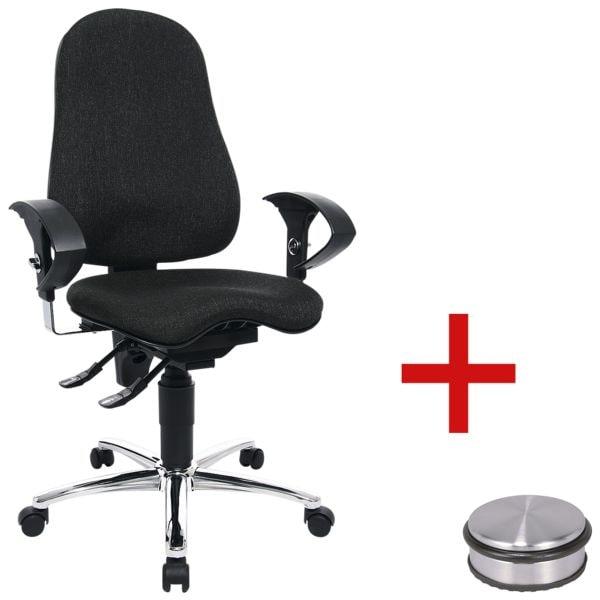 Bürostuhl Topstar »Sitness 10« mit Armlehnen inkl. Türstopper »Disc«