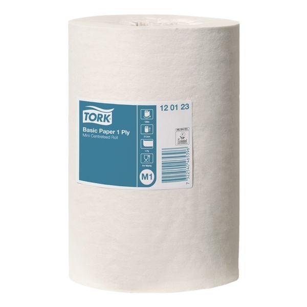 11 Endlosrollen weiße Papierhandtücher 1-lagig (weiß, unperforiert, 21,5 cm x 120 m)