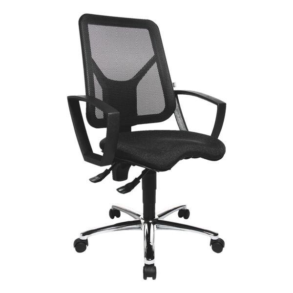 Bürostuhl OTTO Office Budget mit Armlehnen, Rückenlehne: 45 cm, verchromtes Fußkreuz