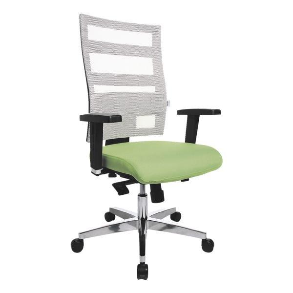 Bürostuhl OTTO Office Premium mit Armlehnen, Netzrücken weiß