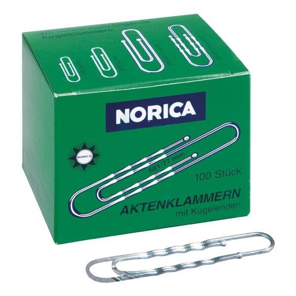 Norica Büroklammern 77mm gewellt, silberfarben, 100 Stück
