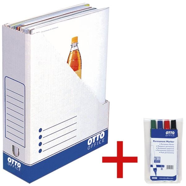 OTTO Office 10er-Pack Stehsammler inkl. 4er-Pack Permanent Marker