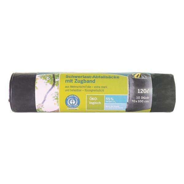 Secolan Schwerlast-Müllsäcke 120 L schwarz - 10 Stück