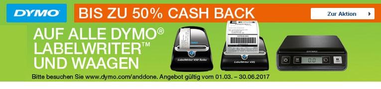 Erhalten Sie bis zu 50% Cashback zurück!