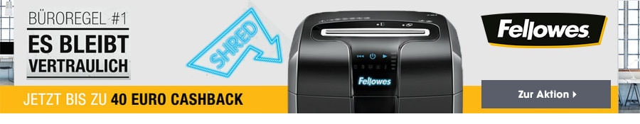 100 Jahre Fellowes - Shredder Cash Back Promotion