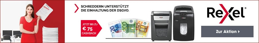 Rexel DSGVO 75€ Cashback Promotion