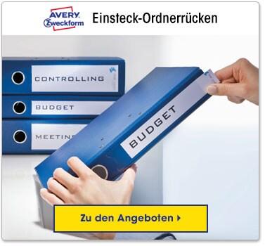 Einsteck-Ordnerrücken