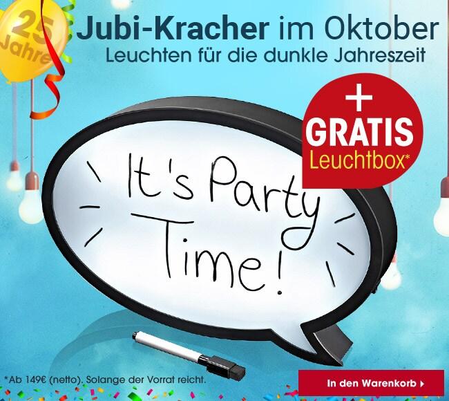 Jubi-Kracher im Oktober