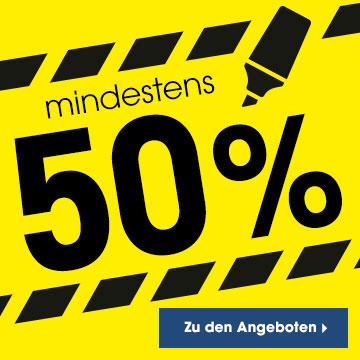 mindestens 50%