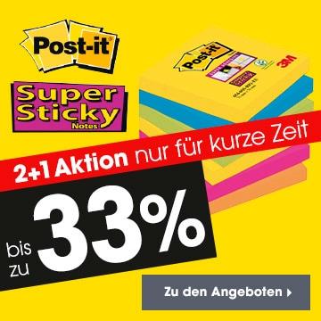 bis zu 33% Post-it