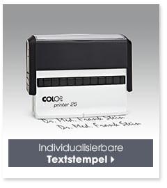 Individualisierbare Textstempel