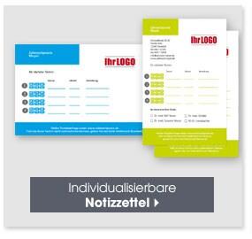 Individualisierbare Notizzettel
